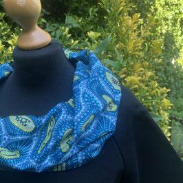 SALE!! Kleid mit afrikanischem  Waxprint-Kragen (Nr. 10)