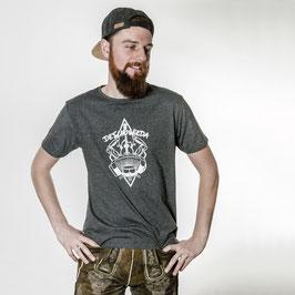 DeSchoWieda Männer T-Shirt Logo Black Melange