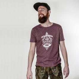 DeSchoWieda Männer T-Shirt Logo Wine Melange