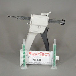Klebeset (1x Klebepistole & 1 x 50ml Kartusche Zweikomponentenkleber Resintech RT125 & 2 Mischerdüsen)