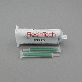 Doppelkammer Kartusche / Zweikomponentenkleber Resintech RT125 (50ml) inkl. 2 Mischerdüsen