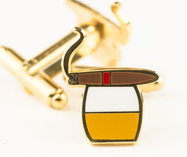 Cigar and Scotch Cufflinks