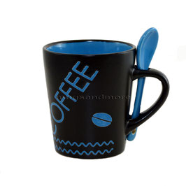 Coffee blau mit Löffel