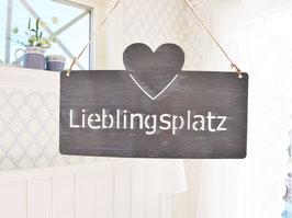 """Metallschild """"Maarja"""" - *Lieblingsplatz*"""