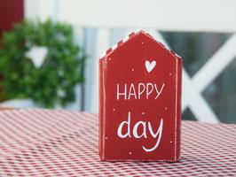 """Holzhaus """"Mats"""" - *HAPPY day* - rot-weiß, mit Pünktchen"""