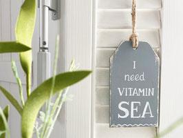 """Kleines Holzschild """"Fiete"""" - I need vitamin sea"""