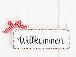 "Holzschild ""Marit"" - *Willkommen*"