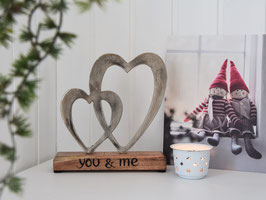"Herzskulptur ""Emmy"" - You & me"