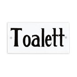 """Emailleschild """"Märta"""" - *Toalett*"""