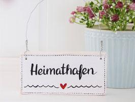 """Holzschild """"Heimathafen"""""""