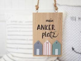 "Holzschild ""Finn"" - Mein Ankerplatz"