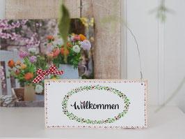 """Holzschild """"Stella"""" - *Willkommen* - reserviert für Angelique"""