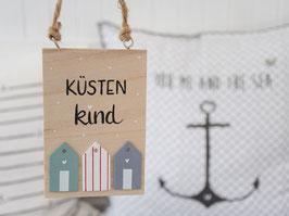 """Holzschild """"Onno"""" - Küstenkind"""