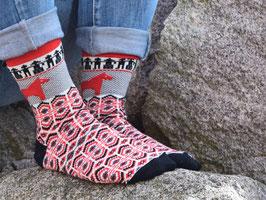 "Merinowolle-Socke ""Dalarna I"" - Gr. 38-41"