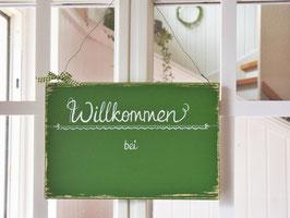 """Türschild """"Imke"""" - Willkommen bei ..."""" - personalisiert mit Wunschnamen - für den Innenbereich"""