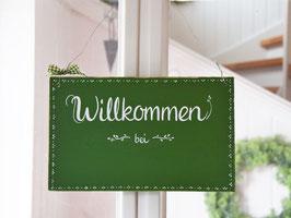 """Türschild """"Imke"""" - Willkommen bei ..."""" - personalisiert mit Wunschnamen"""