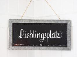 "Metalltafel ""Rune"" - *Lieblingsplatz*"