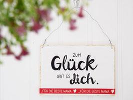 """Holzschild """"...beste Mama"""" - weiß"""