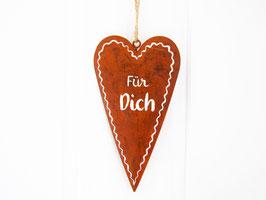 """Herz Edelrost """"Für Dich"""""""