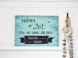 "Holzschild ""Ove"" - Nimm dir Zeit..."