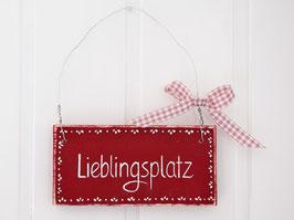 """Holzschild """"Lieblingsplatz""""  - im skandinavischen Landhausstil"""