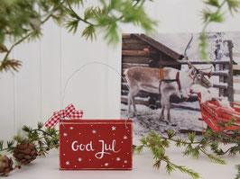 "Holzschild ""Nooa"" - *God Jul*"
