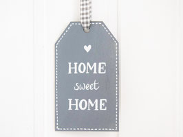 "Holz-Tag ""Home sweet Home"""