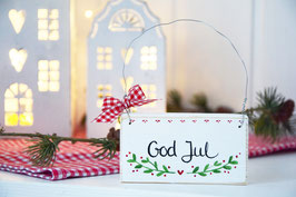 "Holzschild ""Ebba"" - *God Jul*"