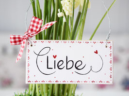 """Holzschild """"Lily"""" - """"Liebe"""" , im skandinavischen Landhausstil *reserviert für Alex*"""