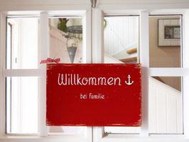 """Türschild """"Gretje"""" - Willkommen bei Familie ..."""" - personalisiert mit Wunschnamen - für den Innenbereich"""