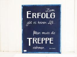 "Holzschild ""Erfolg"" - blau"