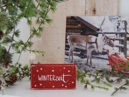"""Holzschild """"Noel"""" - *Winterzeit*"""