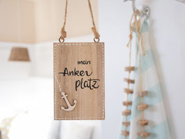 """Holzschild """"Ovje"""" - mein Ankerplatz"""