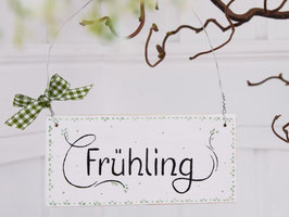 """Holzschild """"Merle"""" - """"Frühling"""" , im skandinavischen Landhausstil"""