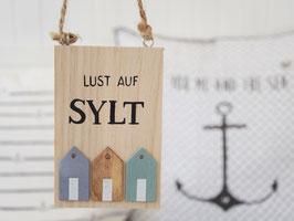 "Holzschild ""Thees"" - Lust auf Sylt"