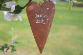 """Herz """"Gartenzeit"""" - Edelrost"""