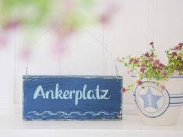 """Holzschild """"Ankerplatz"""""""