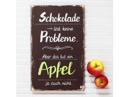 """Holzschild """"Bengt"""" - *Schokolade löst keine Probleme ...* - schokobraun"""