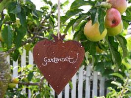 """Edelrost-Herz """"Agnetha"""" -  *Gartenzeit*"""