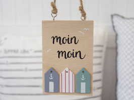 "Holzschild ""Fietje"" - Moin Moin"