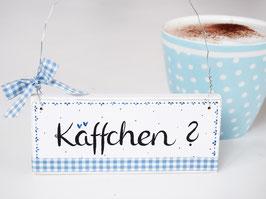 """Holzschild """"Vilma"""" - """"Käffchen"""", im skandinavischen Landhausstil"""