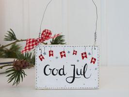 """Holzschild """"Gloria"""" - *God Jul*"""
