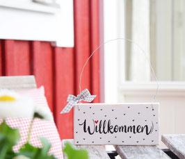 """Holzschild """"Alma"""" - *Willkommen*"""