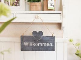 """Metallschild """"Jantje"""" - *Willkommen*"""