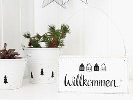 "Holzschild  ""Linus"" - *Willkommen*"