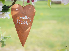 """Herz """"Gartenliebe"""" - Edelrost"""