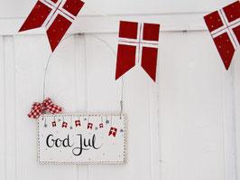 "Holzschild ""Greta"" - *God Jul*"