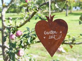 """Edelrost-Herz """"Ylvie"""" -  *Gartenzeit*"""