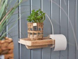 Toilettenpapier-Halter - aus Hartholz