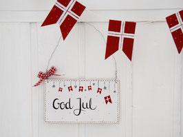"""Holzschild """"Vilma"""" - *God Jul* - reserviert für Ulrike"""
